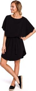 Sukienka Made Of Emotion mini z krótkim rękawem z okrągłym dekoltem