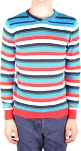 Sweter Daniele Alessandrini z okrągłym dekoltem w młodzieżowym stylu
