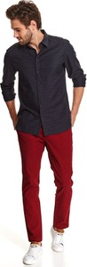 Koszula Top Secret z klasycznym kołnierzykiem w stylu casual z tkaniny