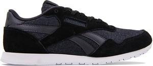 Czarne buty sportowe Reebok z zamszu w street stylu