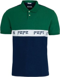 Zielony t-shirt Pepe Jeans z bawełny