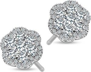 19cc74548905e5 kolczyki srebrne z szafirem - stylowo i modnie z Allani