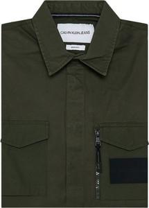 Zielona koszula Calvin Klein z długim rękawem