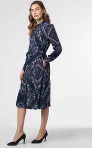 Sukienka Esprit z kołnierzykiem midi z długim rękawem