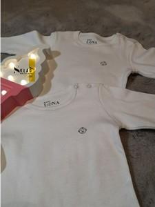 Odzież niemowlęca skladmaterialu z bawełny