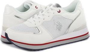 Buty sportowe Us Polo Assn sznurowane w sportowym stylu z płaską podeszwą