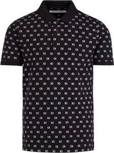 Czarna koszulka polo Calvin Klein z krótkim rękawem
