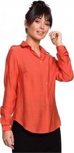 Pomarańczowa koszula Be z długim rękawem