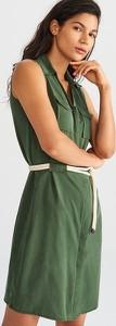 Zielona sukienka Reserved bez rękawów