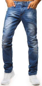 Niebieskie jeansy Dstreet w stylu casual z bawełny