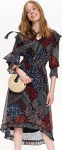 Sukienka Top Secret z długim rękawem z szyfonu maxi