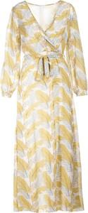Żółta sukienka Multu w stylu casual midi