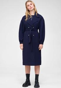 Granatowy płaszcz ORSAY z tkaniny w stylu casual