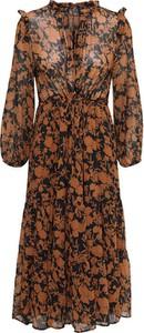 Sukienka Only z długim rękawem midi w stylu casual