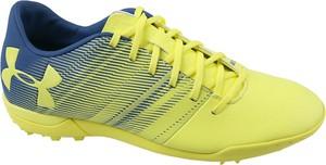 Zielone buty sportowe Under Armour sznurowane ze skóry