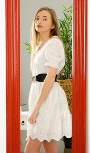 Sukienka Olika mini z okrągłym dekoltem