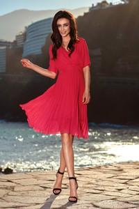 Czerwona sukienka Lemoniade z dekoltem w kształcie litery v kopertowa