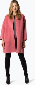 Różowy płaszcz MaxMara z wełny w stylu casual