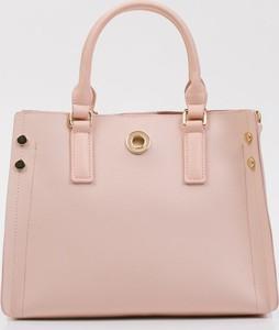 Różowa torebka Monnari ze skóry ekologicznej