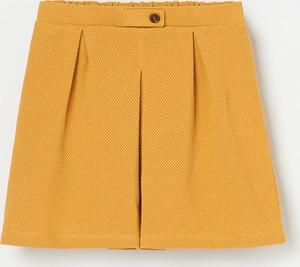 Żółta spódniczka dziewczęca Reserved z dzianiny