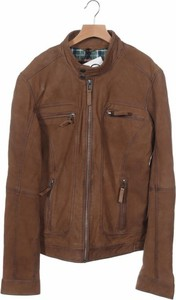 Brązowa kurtka Oakwood krótka ze skóry w stylu casual