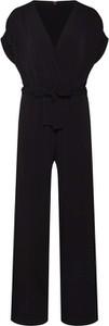 Czarny kombinezon Tigha z długimi nogawkami z bawełny