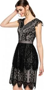 Czarna sukienka L'AF rozkloszowana mini