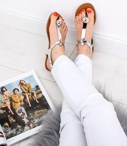 Sandały Abloom ze skóry ekologicznej z płaską podeszwą