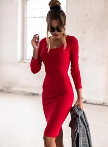 Sukienka SELFIEROOM midi wyszczuplająca z bawełny