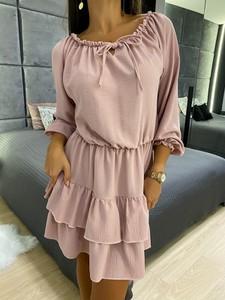 Sukienka ModnaKiecka.pl z długim rękawem mini
