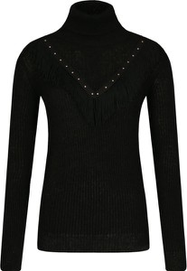 Czarny sweter Liu-Jo z wełny w stylu casual