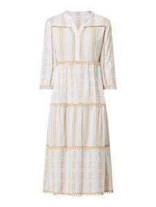 Sukienka Rich & Royal z bawełny midi z długim rękawem