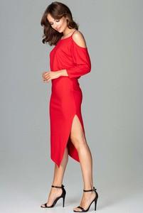 Czerwona sukienka Katrus