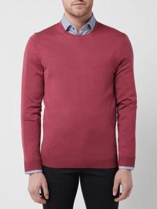 Różowy sweter Christian Berg w stylu casual z wełny