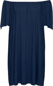 "Bonprix rainbow sukienka shirtowa z dekoltem ""carmen"""