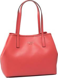 Czerwona torebka Guess duża na ramię