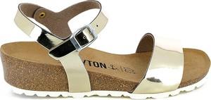 Sandały BAYTON ze skóry na średnim obcasie z klamrami