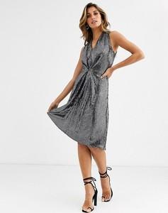 Srebrna sukienka Closet