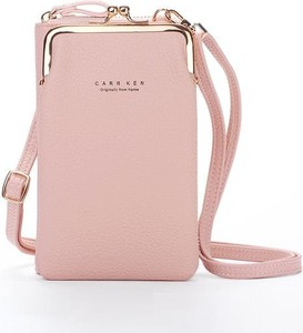 Różowa torebka Cikelly średnia matowa na ramię