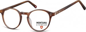 Stylion Okrągłe oprawki optyczne,lenonki korekcyjne Montana MA62B brązowe