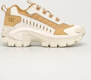 Buty sportowe Caterpillar na platformie ze skóry