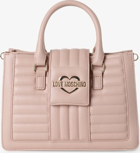 Różowa torebka Love Moschino do ręki matowa