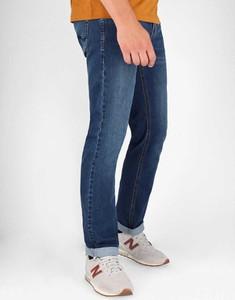 Niebieskie jeansy volcano.pl z bawełny w stylu casual