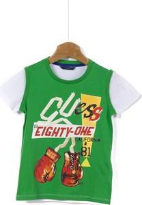 Koszulka dziecięca Guess z bawełny