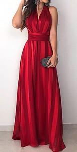 Sukienka Elegrina maxi rozkloszowana bez rękawów