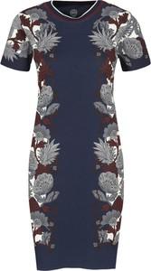 Sukienka Tory Burch z krótkim rękawem
