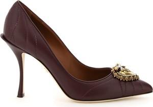 Czółenka Dolce & Gabbana ze skóry ze spiczastym noskiem