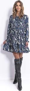 Sukienka Fobya z długim rękawem dla puszystych w stylu boho