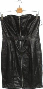 Czarna sukienka Rare London ze skóry