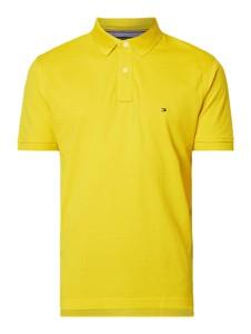 Żółta koszulka polo Tommy Hilfiger w stylu casual z bawełny